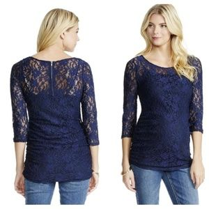 🔎JESSICA SIMPSON LACE 3/4 SLEEVE MATERNITY TOP